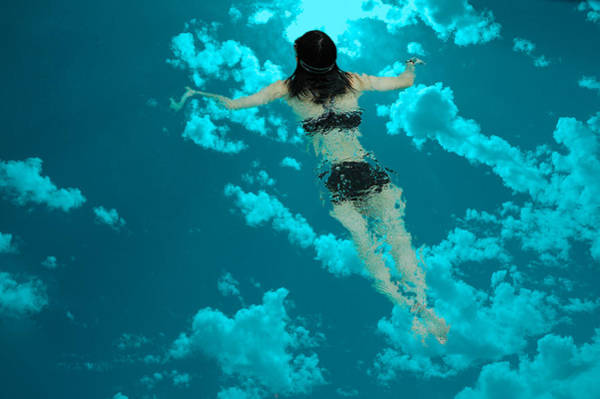 Photograph - Swimming In The Sky by Harry Spitz