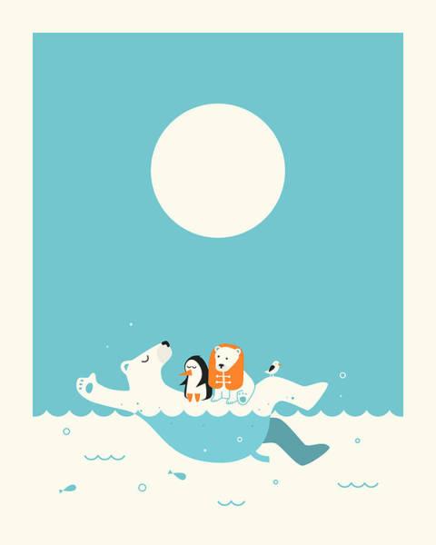 Swimming Lessons 1 Art Print