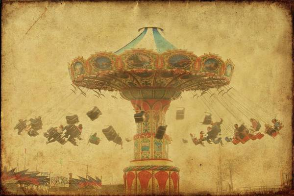 Wall Art - Photograph - Swing Chair Ride At Jenkinsons Boardwalk - Jersey Shore by Angie Tirado