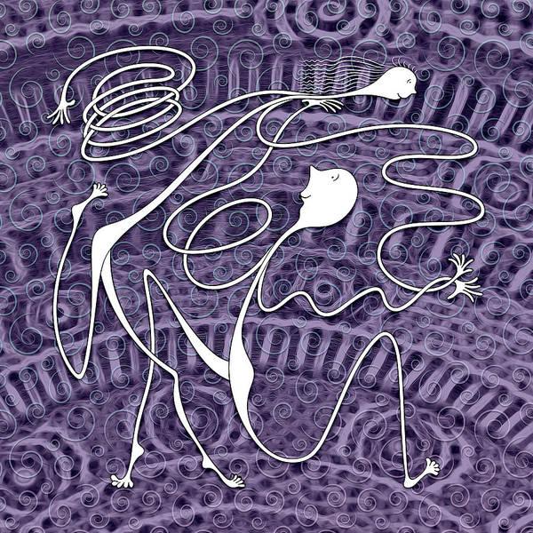 Digital Art - Swing Dancing by Becky Titus