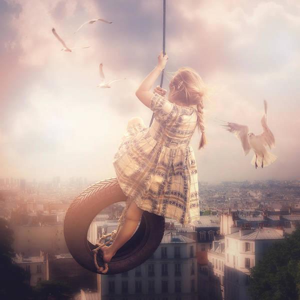 Swing Photograph - Swing In The Sky by Cindy Grundsten