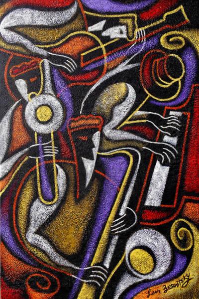Wall Art - Painting - Swing Jazz  by Leon Zernitsky