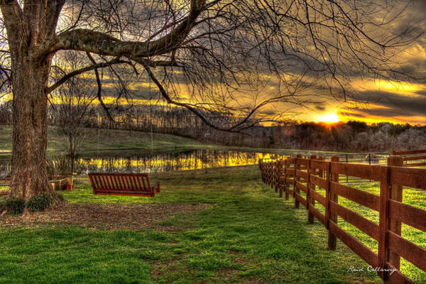 Photograph - Swing Swang Swung Sunset Southern Living Art by Reid Callaway
