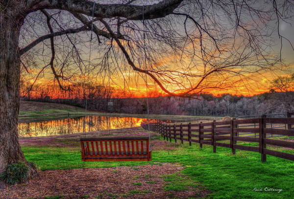 Photograph - Swing With Me Relaxation Sunset Art by Reid Callaway