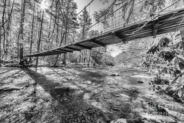 Photograph - Swinging Bridge And Sun Rays by Thomas R Fletcher