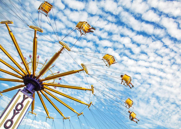 Fairground Photograph - Swings On High by Todd Klassy