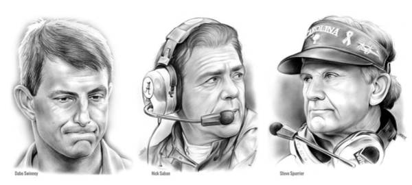 Swinney Saban Spurrier Art Print