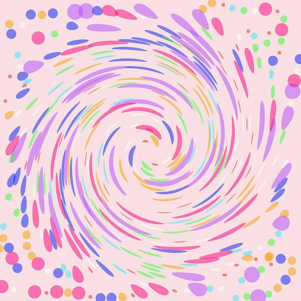 Pale Blue Dot Wall Art - Photograph - Swirling Dots On Pink by Lena Photo Art