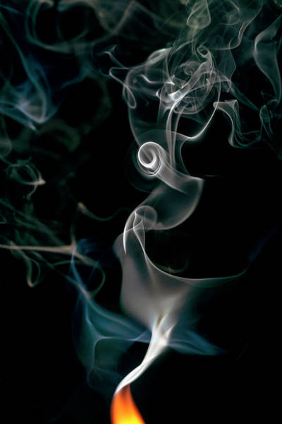 Photograph - Swirling Flame by Christopher Johnson