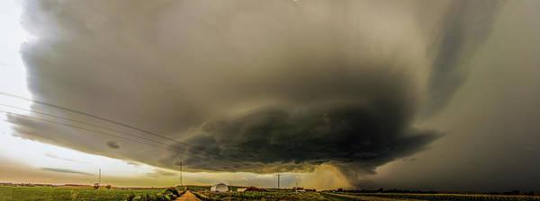 Photograph - Swirling Nebraska Supercells 024 by NebraskaSC