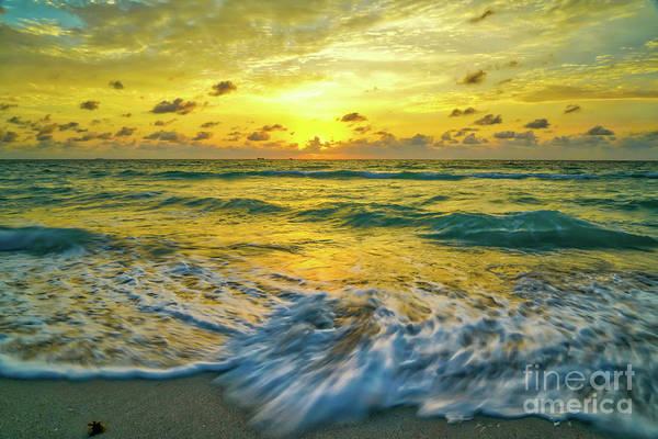 Wall Art - Photograph - Swirling Sea At Sunrise by DAC Photo