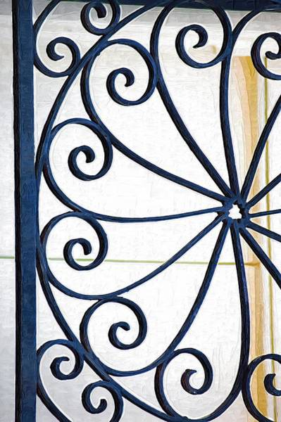 Photograph - Swirls On Gate by Donna Bentley