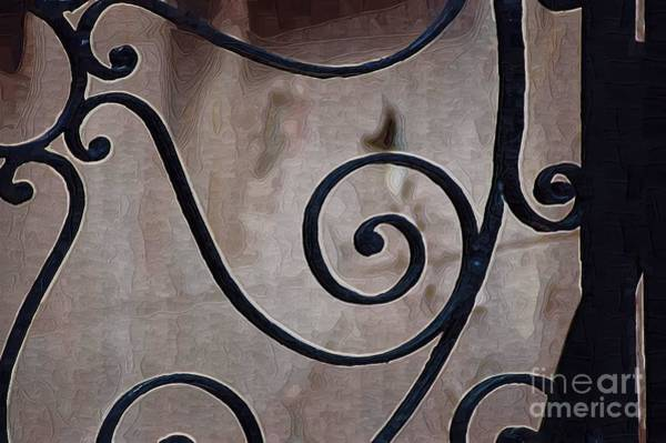 Photograph - Swirls On Gate2 by Donna Bentley