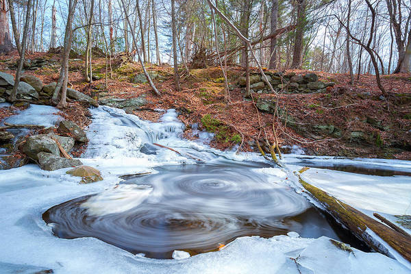 Photograph - Swirly Pond Waterfall by Brian Hale
