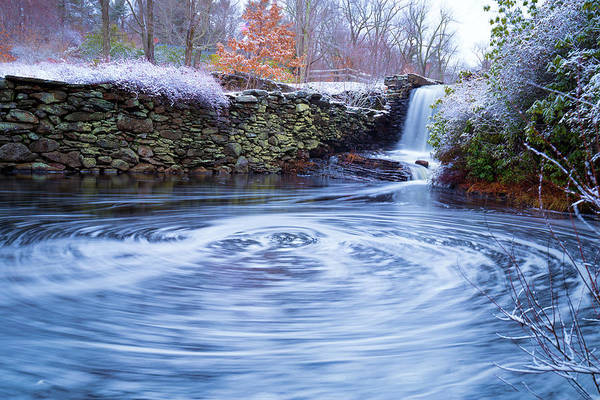 Photograph - Swirly Waterfall In Winter by Brian Hale