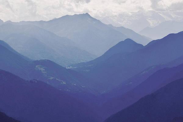 Silhoutte Photograph - Swiss Alps by Emma Lucas