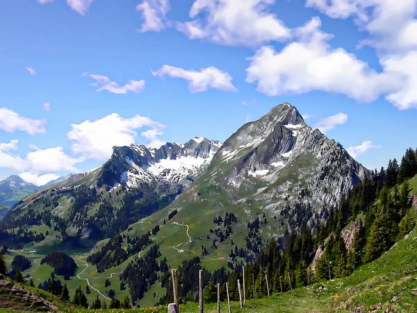 Photograph - Swiss Alps Panorama by Anthony Dezenzio