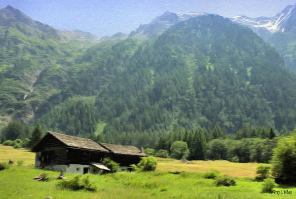 Painting - Swiss Mountain Home by Jeffrey Kolker