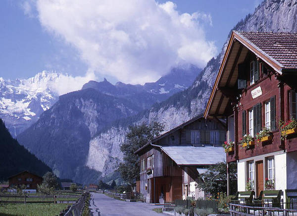 Photograph - Swiss Town by Richard Goldman