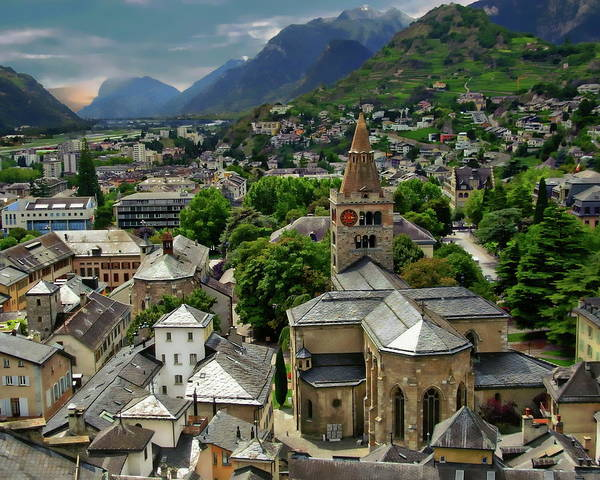 Photograph - Swiss Town View by Anthony Dezenzio