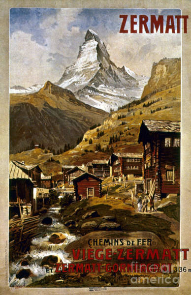 Painting - Swiss Travel Poster, 1898 by Granger