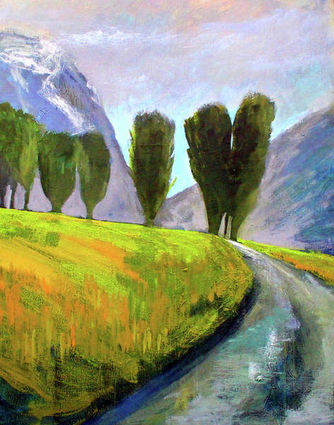 Wall Art - Painting - Swiss Valley by Nancy Merkle