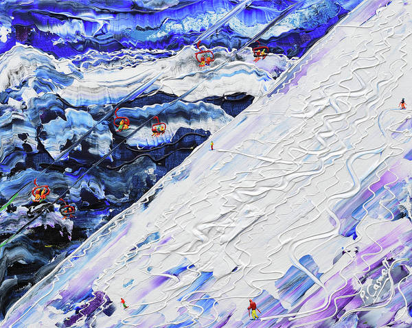 Painting - Swiss Wall In Powder by Pete Caswell