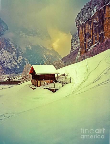 Photograph - Switzerland Alps Grutschap Alpine Meadow Winter  by Tom Jelen