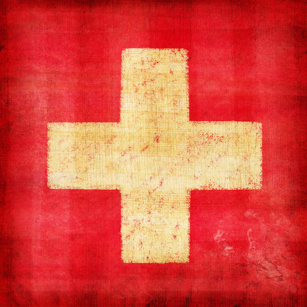 Vintage Photograph - Switzerland Flag by Setsiri Silapasuwanchai