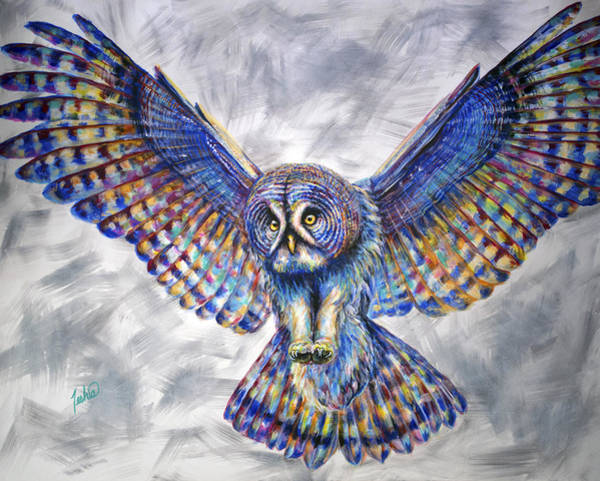 Jackson Hole Wall Art - Painting - Swoop by Teshia Art