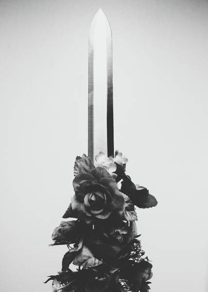 Photograph - Sword And Rose by Desmond Manny