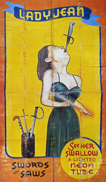 Photograph - Sword Swallower, C1955 by Granger