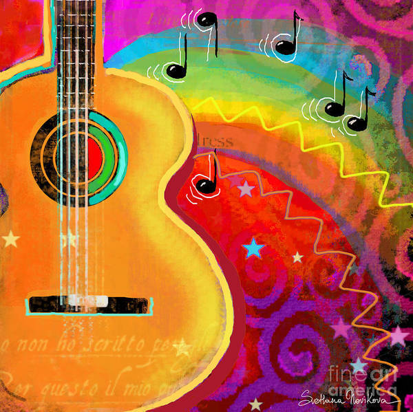 Sxsw Musical Guitar Fantasy Painting Print Art Print