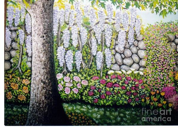 Sycamore Painting - Sycamore Garden by William Ohanlan