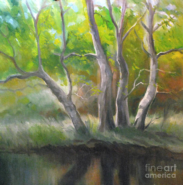 Sycamore Painting - Sycamore Quartet by Karen Winters
