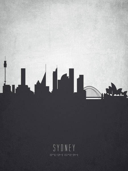 Wall Art - Painting - Sydney Australia Cityscape 19 by Aged Pixel
