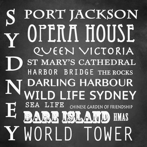 Country House Digital Art - Sydney Famous Landmarks by Patricia Lintner