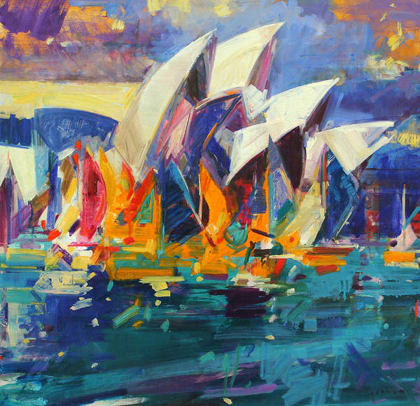 Exterior Painting - Sydney Flying Colours by Peter Graham