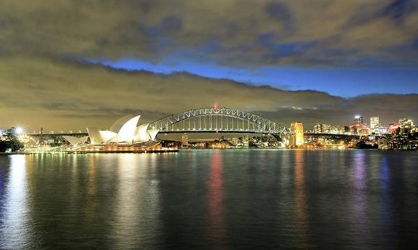 Photograph - Sydney Harbor At Blue Hour by M C Hood