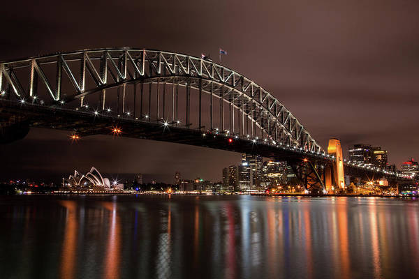 Photograph - Sydney Harbor At Night by John Daly