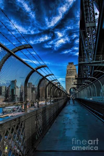 Photograph - Sydney Harbor Bridge Walkway by Diana Mary Sharpton