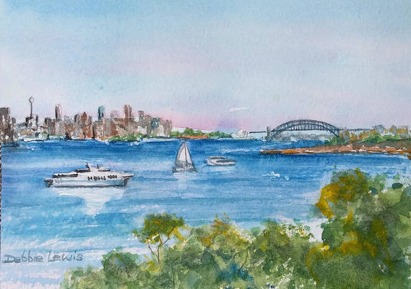 Painting - Sydney Harbor by Debbie Lewis