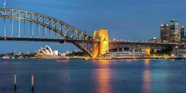Photograph - Sydney Harbour At Dusk by James Udall