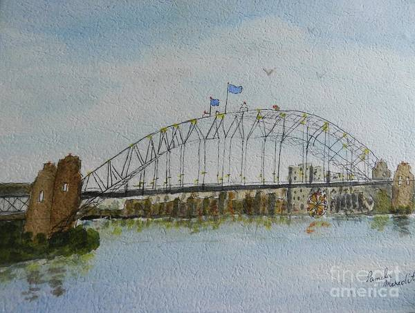 Wall Art - Painting - Sydney Harbour Bridge 1 by Pamela Meredith
