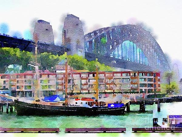 Cyprus Wall Art - Painting - Sydney Harbour Bridge By Mary Bassett by Mary Bassett