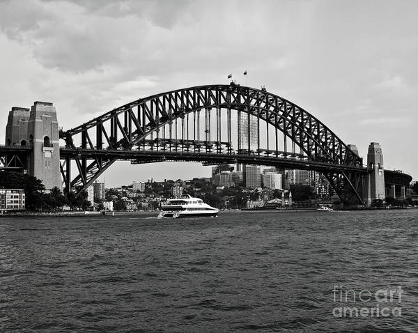 Wall Art - Photograph - Sydney Harbour Bridge In Black And White by Chris Smith
