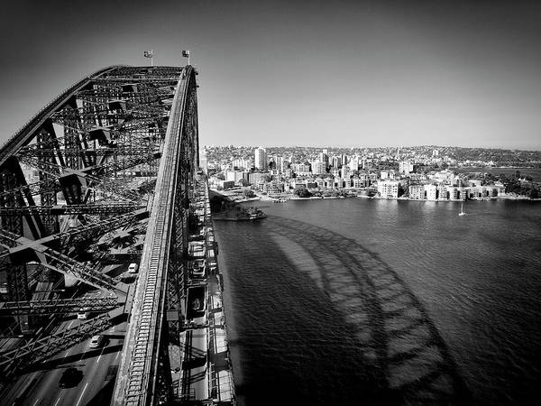 Wall Art - Photograph - Sydney Harbour Bridge Monochrome by Melanie Viola