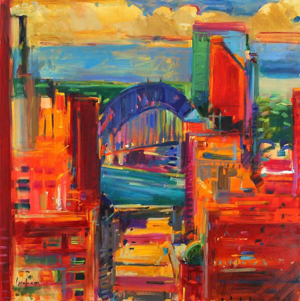 Wall Art - Painting - Sydney Harbour Bridge by Peter Graham
