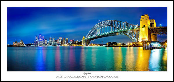 Light Blue Photograph - Sydney Icons Poster Print by Az Jackson