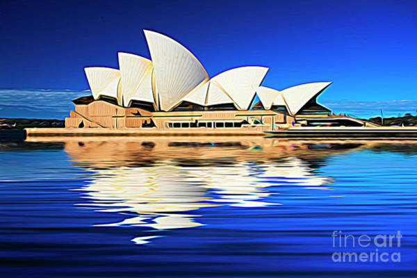 Wall Art - Photograph -  Sydney Opera House Expressionist by Sheila Smart Fine Art Photography